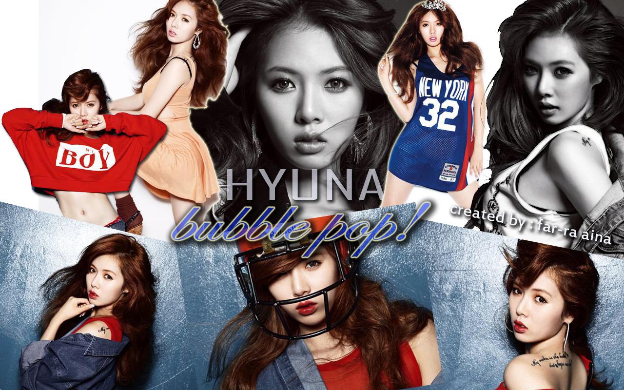k-pop lover ^^: HYUNA (4Minute) - Bubble Pop! WALLPAPER  k-pop lover ^^:...