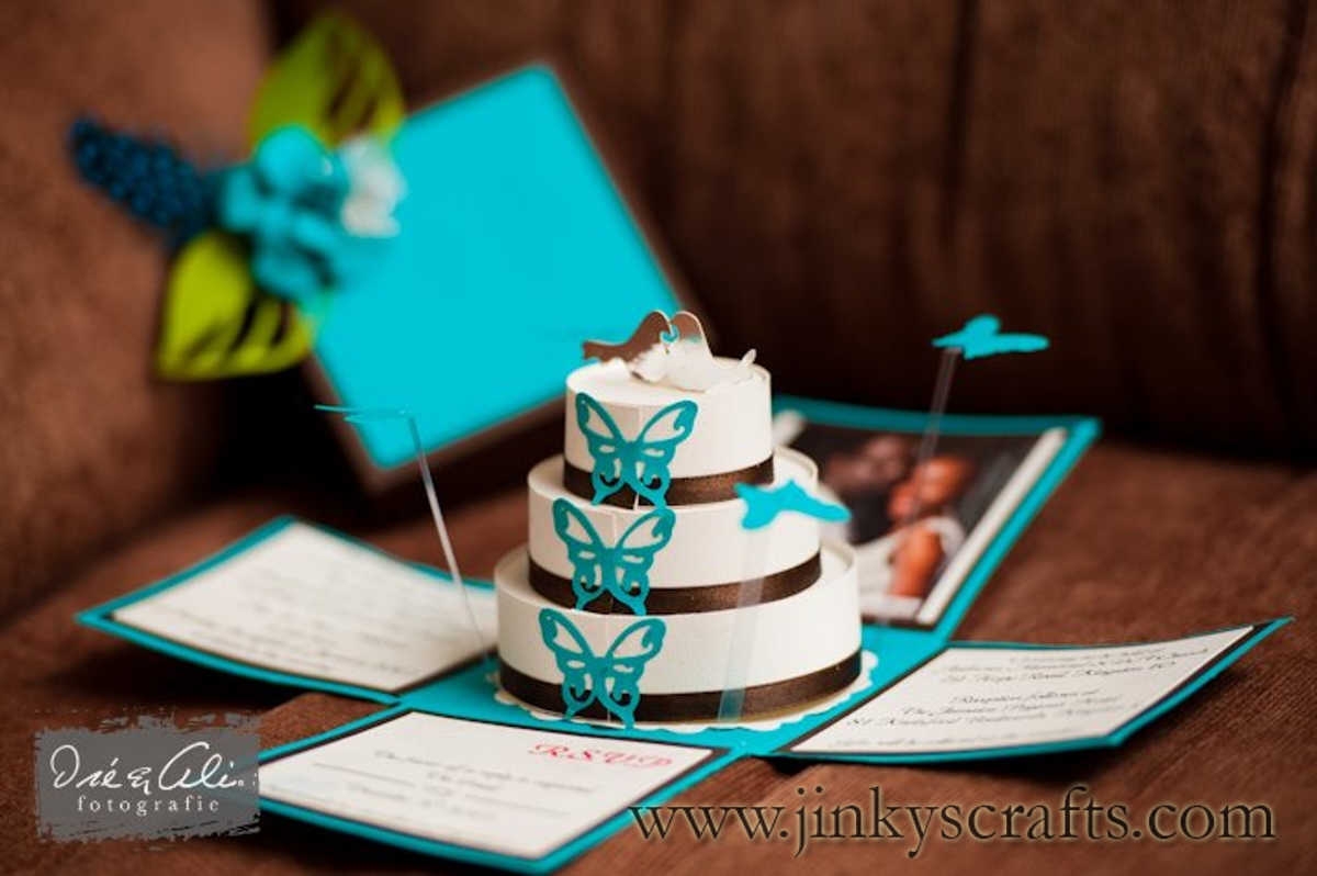 Turquoise And Brown Wedding Invitations: Jinky's Crafts & Designs: Turquoise Blue & Chocolate Brown