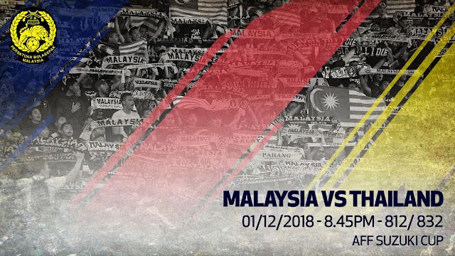 Keputusan Piala AFF Suzuki Semi Final : Malaysia VS Thailand (1 Disember 2018)