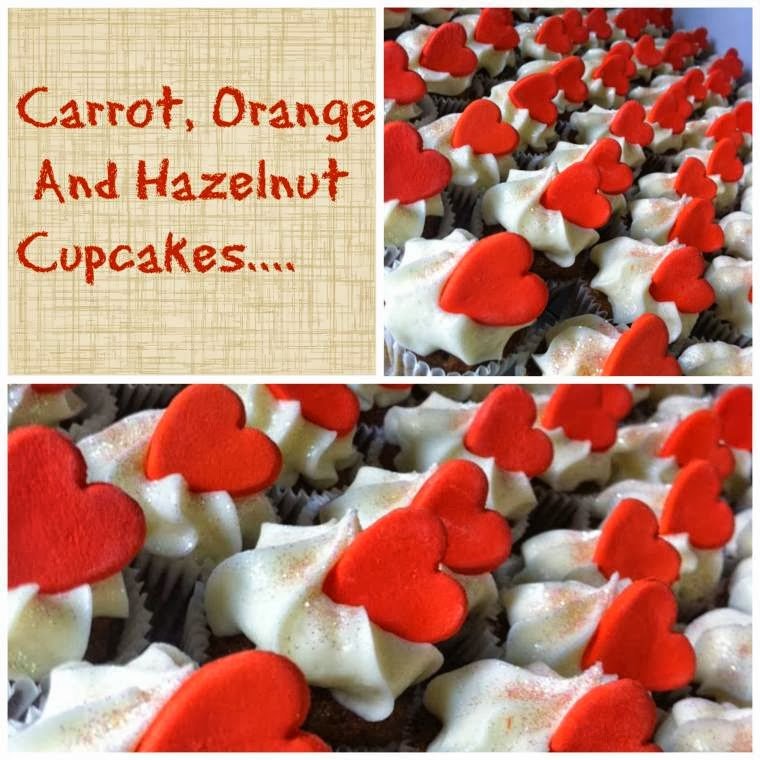 Carrot, Orange And Hazelnut Cupcakes
