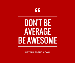don't be average be awesome