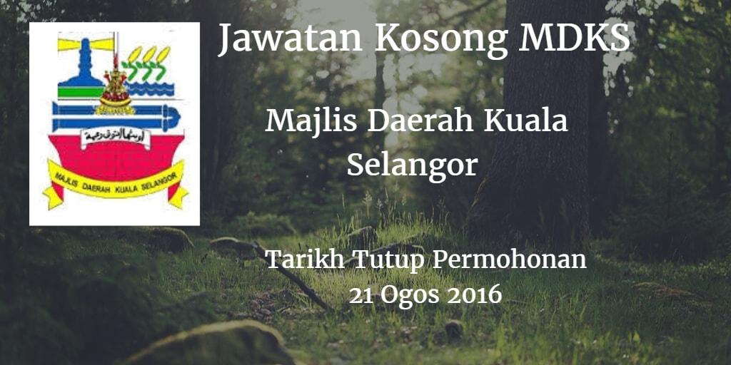 Jawatan Kosong MDKS 21 Ogos 2016