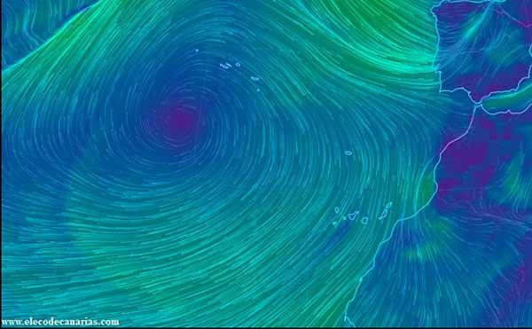 La borrasca que entra a la Península por el Atlántico no afectará casi nada a Canarias, 7 de abril