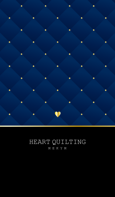 HEART QUILTING -NAVY-