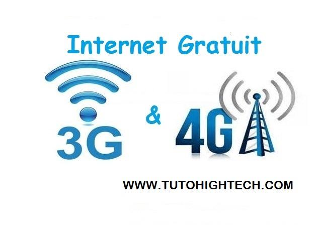 3G/4G Internet Gratuit, Connexion illimitée