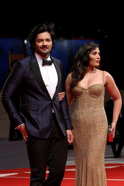 Ali Fazal and Richa Chadha Photoshoot Public at Venice Film Festival