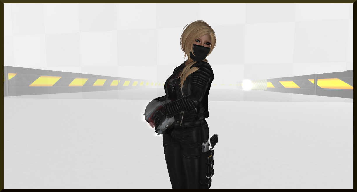 leather outfit and mask SL
