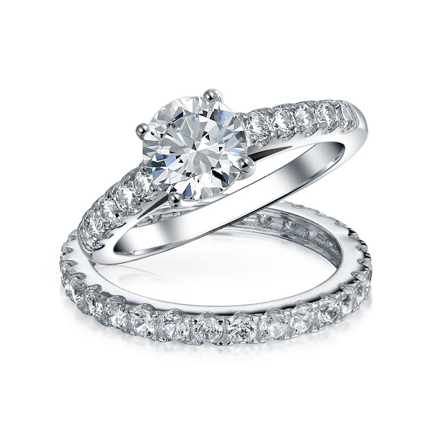 Cheap Silver Wedding Ring Sets