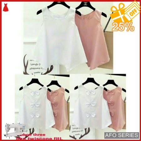 AFO487 Model Fashion Ribbon Three Modis Murah BMGShop