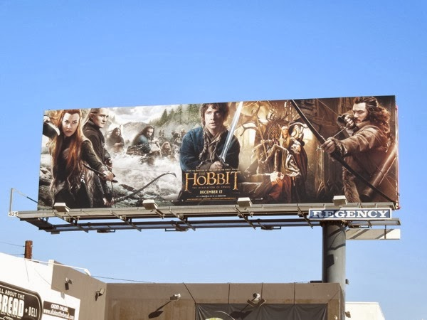 Hobbit The Desolation of Smaug movie billboard