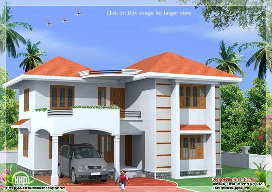 India style 2 storey home design