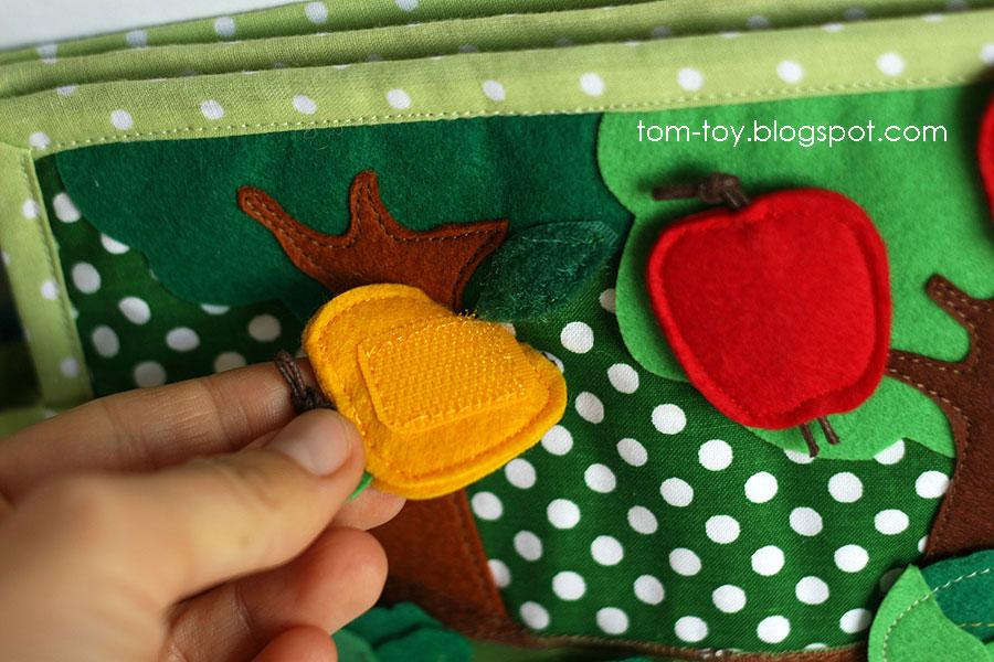 Bunny day quiet busy book for children, pretend play, apples, развивающая книжка день зайчика, яблоня