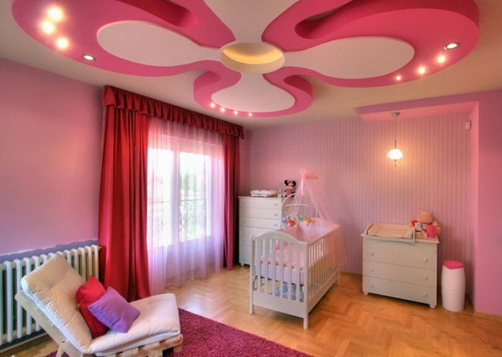 Y Pink Pop Ceiling Design Ideas For Nursery