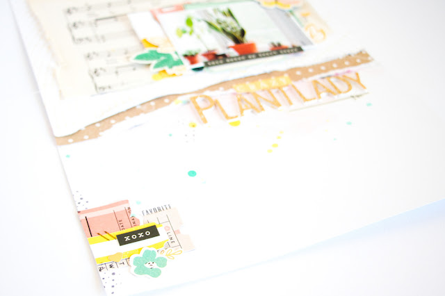 Crazy Plantlady by ScatteredConfetti. // #citrustwistkits #scrapbooking #cratepaper