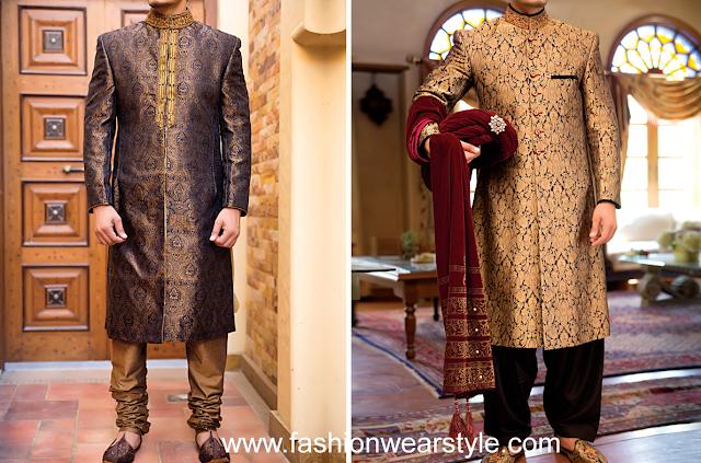 JUNAID JAMSHED Dresses/Sherwani for Grooms|J. Jamawar clothes www.fashionwearstyle.com