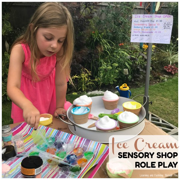 Ice Cream Sensory Play
