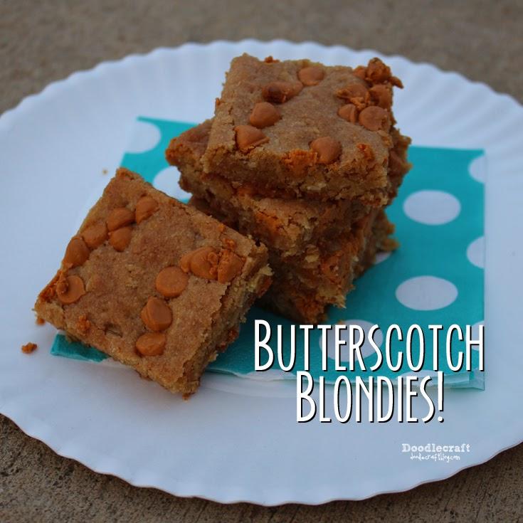 Doodlecraft: Butterscotch Blondies!