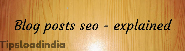 Blog,seo, custom setting