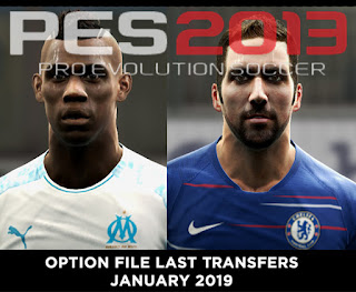 option file pes 2013 january 2019