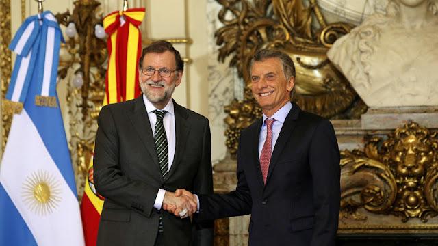 """Mauricio Macri: """"El ejemplo de España es muy bueno para nosotros; estamos siguiendo el mismo rumbo"""""""