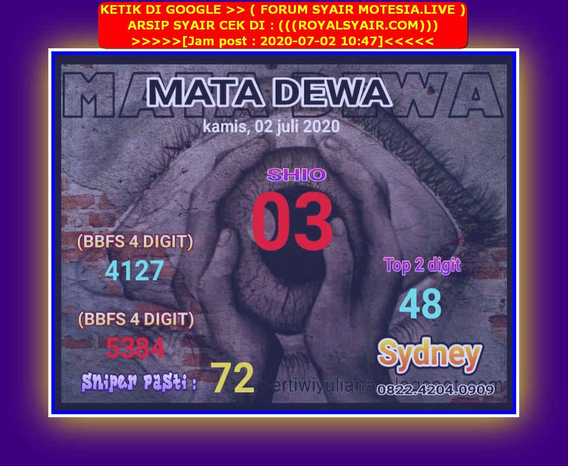 Kode syair Sydney Kamis 2 Juli 2020 24