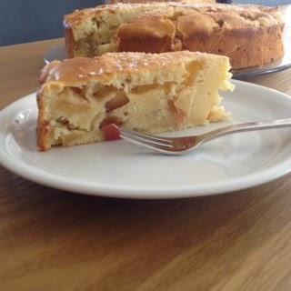 Stück des Apfelkuchens