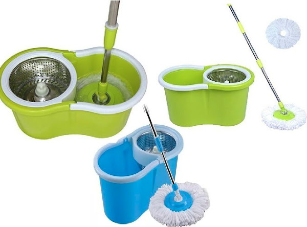 360˚ Spin Mops: Floor Cleaning Micro-Fibre Spinner Mop and Bucket for Homes and Offices