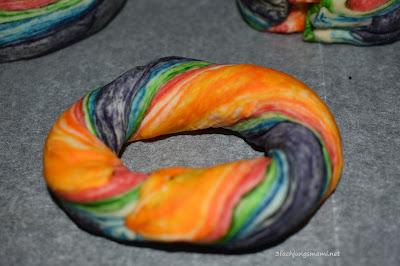 Rezept Regenbogenbagels