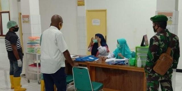 Kodim Yapen Waropen Tertibkan Penggunaan Masker di Serui