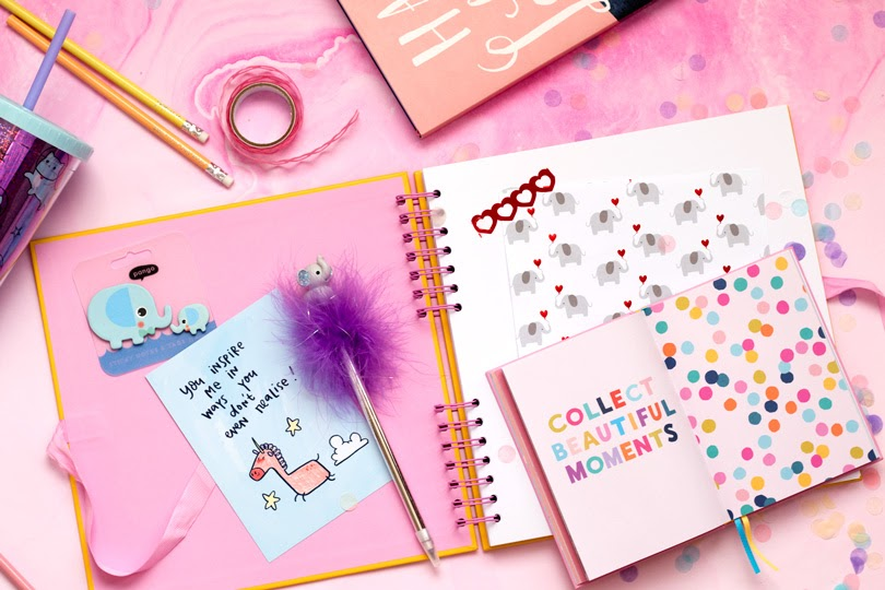 paperchase scrapbook flatlay