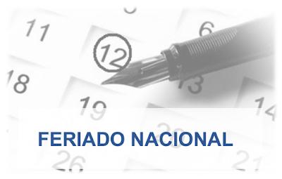 Feriado nacional alterará funcionamento das repartições públicas estaduais