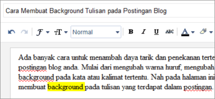 Cara Membuat Background Tulisan pada Postingan Blog