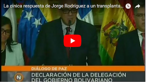 Jorge Rodríguez se burló de los pacientes trasplantados y enfermos de cáncer