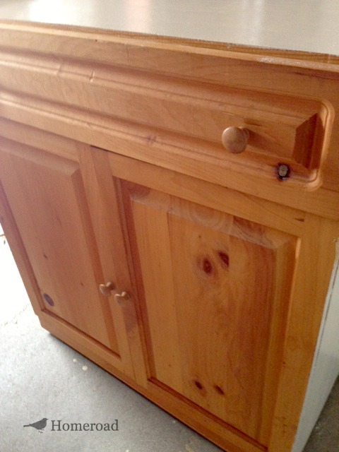 Make a Craft Cabinet from Repurposed Furniture