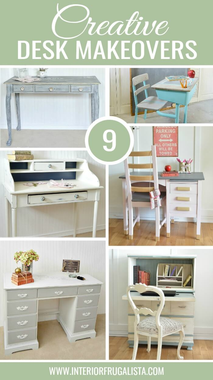 Nine Creative Ways To Transform An Old Desk