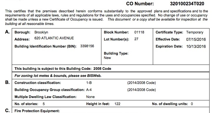 After four years, Barclays Center now on 20th Temporary Certificate ...