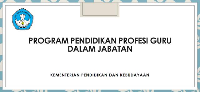 Pendidikan Profesi Guru Dalam Jabatan