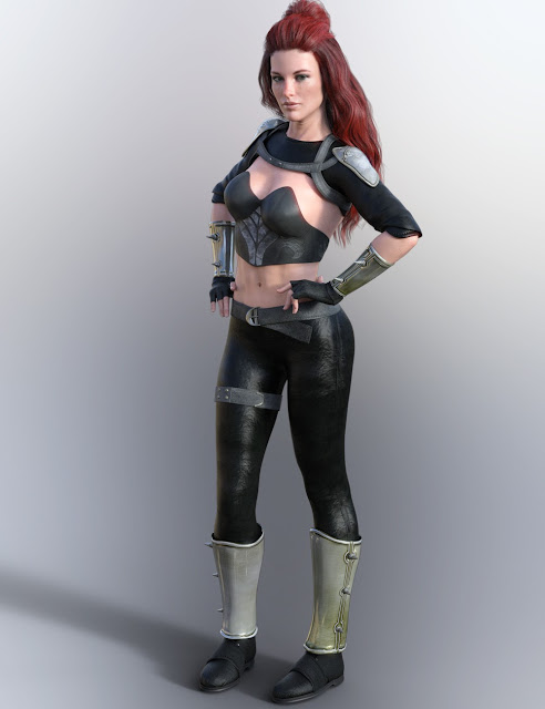 X-Fashion Catrina Outfit for Genesis 8 Female