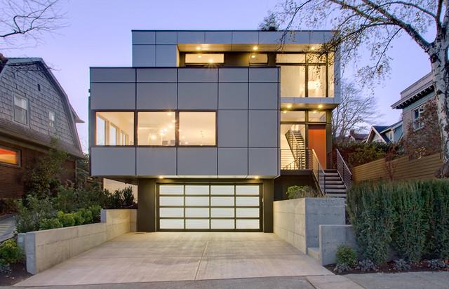 Lihat Rumah Desain Kotak Tampak Cool Referensi Modern Di