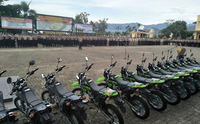 Polda Lampung Distribusikan 760 Rompi Anti Peluru dan 119 Motor Bhabinkamtibmas