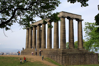 edinburgh calton hill national monument view