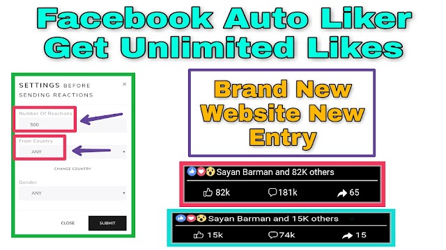 Top Facebook Auto Liker Websites Get Unlimited Fb Likes? 2019