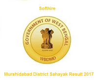 Murshidabad District Sahayak Result