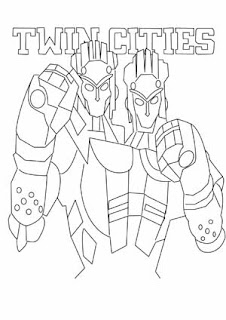 Real Steel Twin Cities Coloring Pages To Print