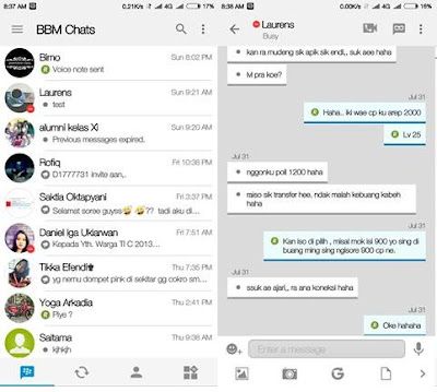 Download BBM Mod IOS Light v10 BBM Base v3.0.0.18 Apk Update Terbaru Gratis