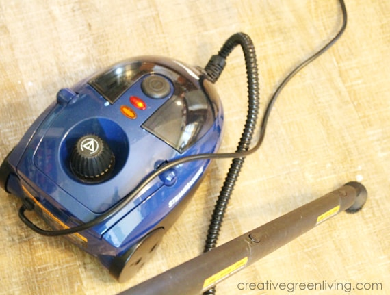 ceiling painting tools - use a steam machine to clean up paint drips off the floor
