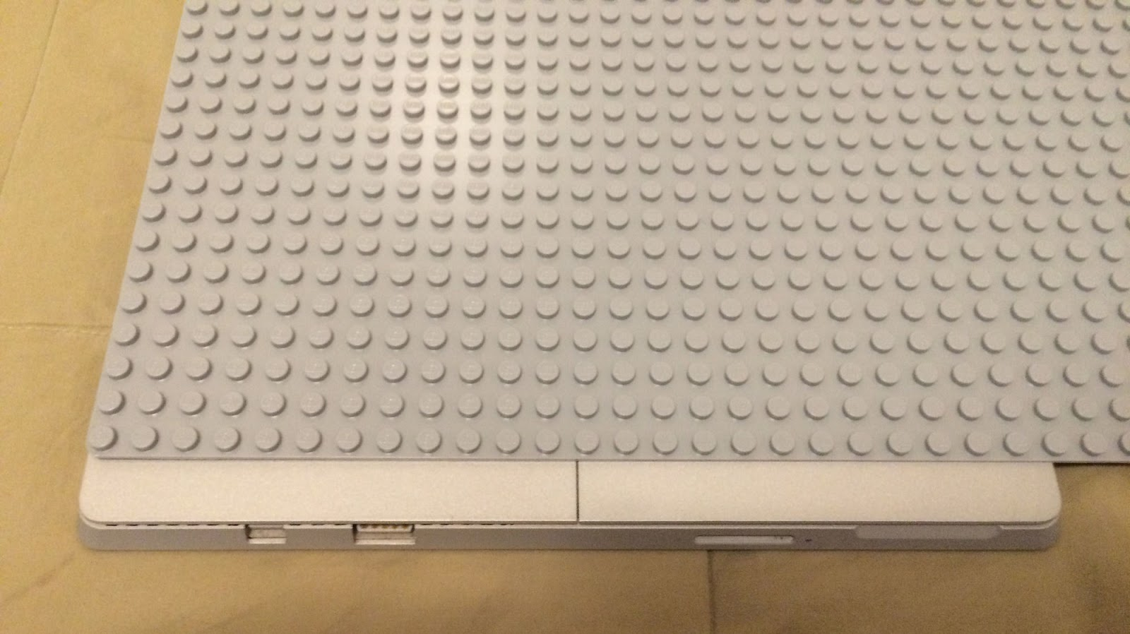 #2. Luckily, the color of the LEGO matches the color of the tablet quite well. - He Glued LEGO To His Tablet. The Reason Why… I Can't Wait To Try.