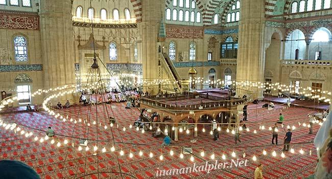 Edirne Selimiye Camii İçerden Görüntü