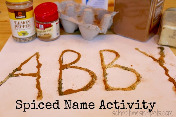 five senses preschool name recognition