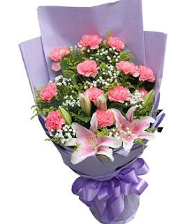carnations-buket